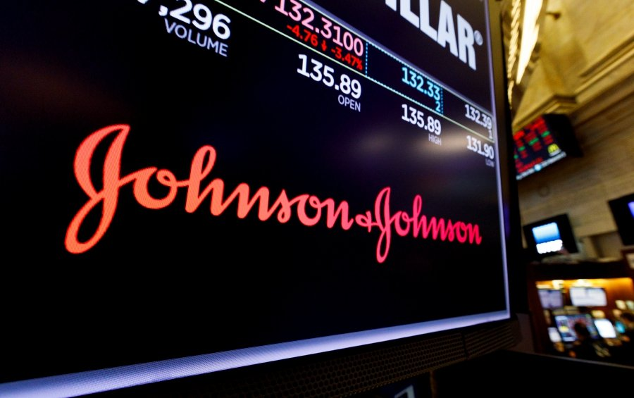 A screen shows the logo for the pharmaceutical company Johnson and Johnson on the floor of the New York Stock Exchange in New York, New York, USA, 29 May 2019 (reissued 26 August 2019) A judge in the US state of Oklahoma on 26 August 2019 found US pharmaceutical company Johnson & Johnson (J&J, JNJ) liable related to an opioid epidemic and ordered the company to pay 572 million US dollars in damages. Johnson & Johnson said they will appeal the ruling. - EPA/JUSTIN LANE