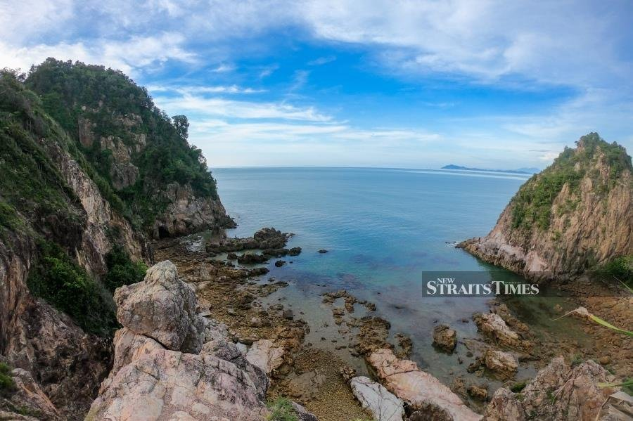 View from the rocky hill of Pulau Mawar. Pictures by Zulkifly Ab Latif