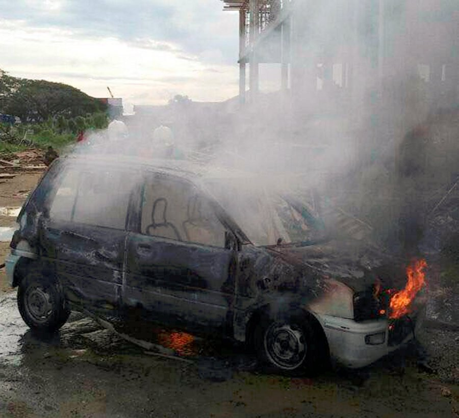 Man sets fire to co-worker's car, assaults boss' son after