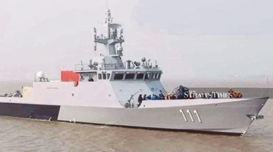 Resultado de imagen para Royal Navy de Malasia recibe el primer código de barras de misión construido en China