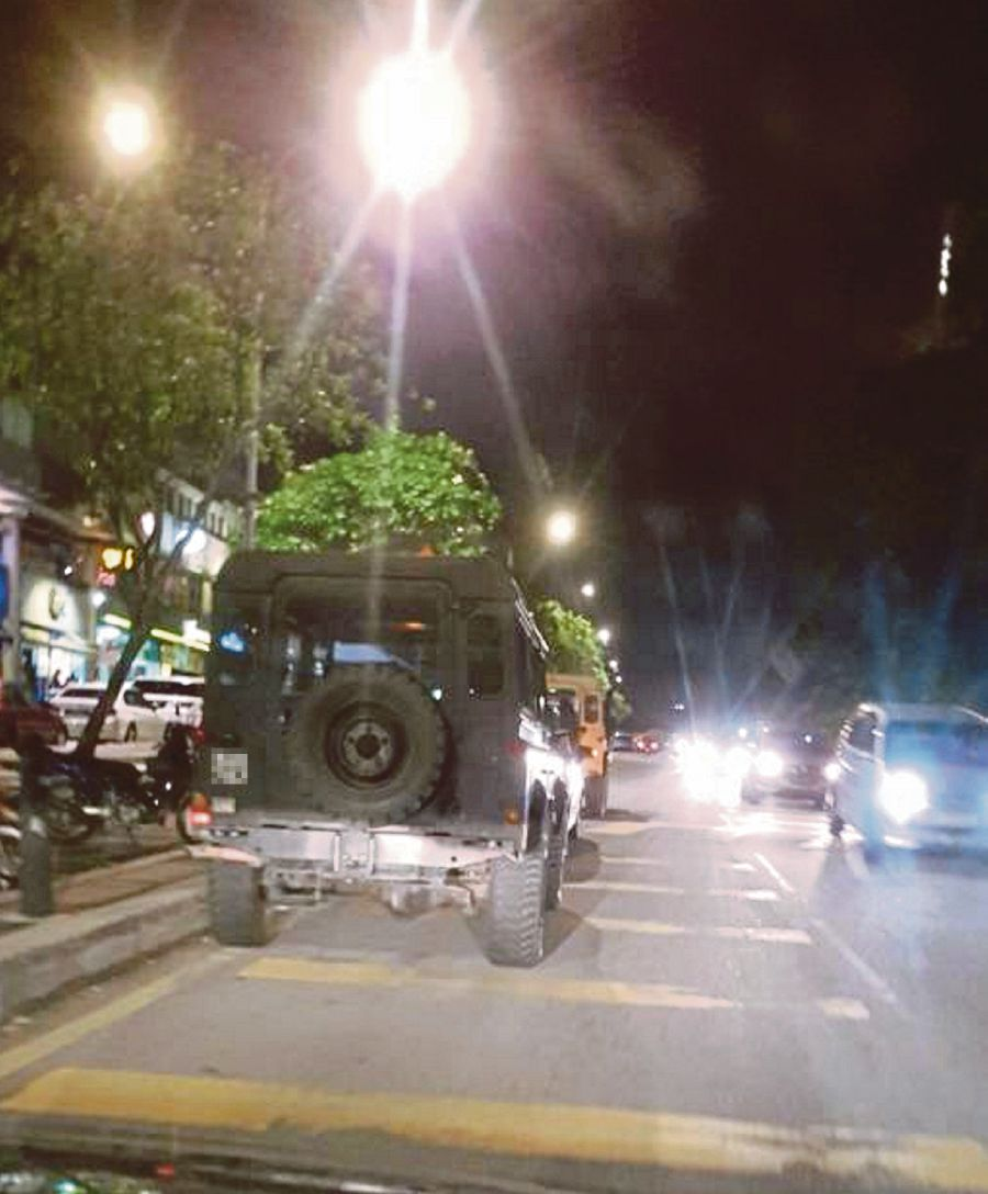 Motorists sometimes leave their vehicles by the roadside for hours in Jalan Rahim Kajai 14, Taman Tun Dr Ismail, Kuala Lumpur. (Pic courtesy of reader)