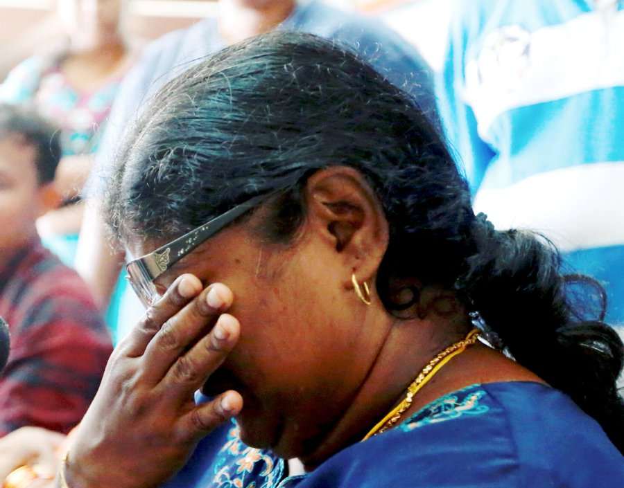 A. Lalitha said while the teacher might have found her phone, the family had lost a child. Pix by Ramdzan Masiam