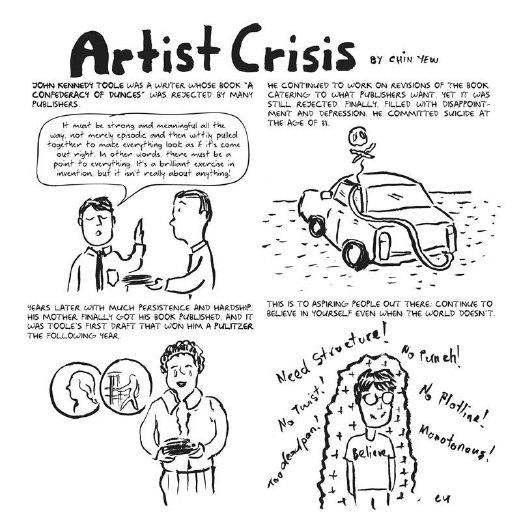 Chin Yew's advice for aspiring writers.