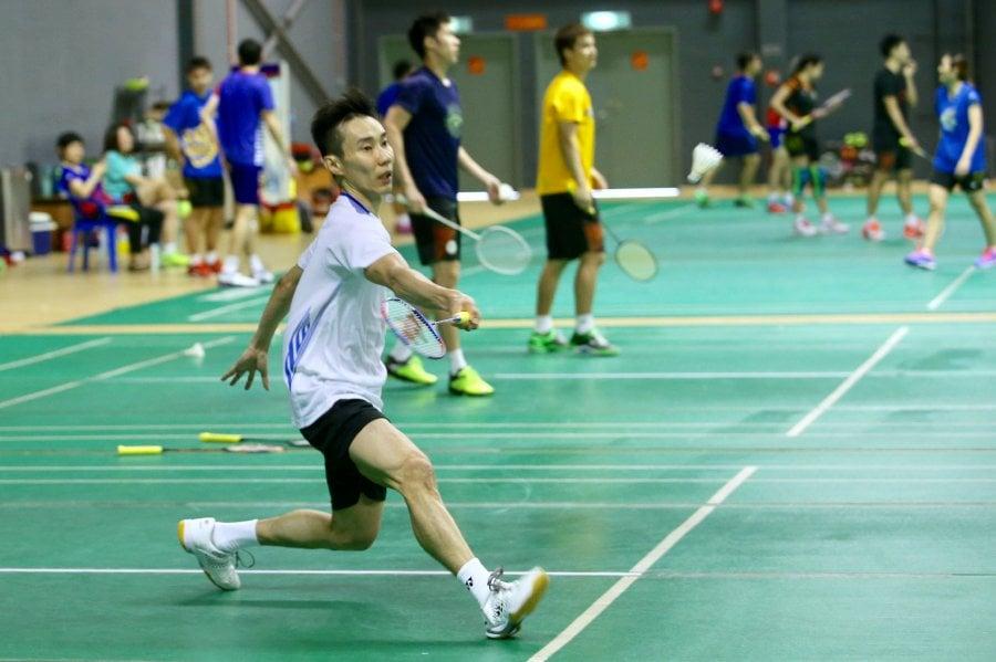Lee Chong Wei practising Badminton