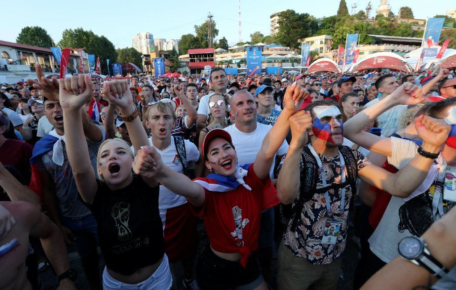 Image result for Russia parties as Spain shootout win keeps World Cup dream alive