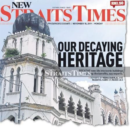 A flashback of the NST front page on Nov 18 last year.