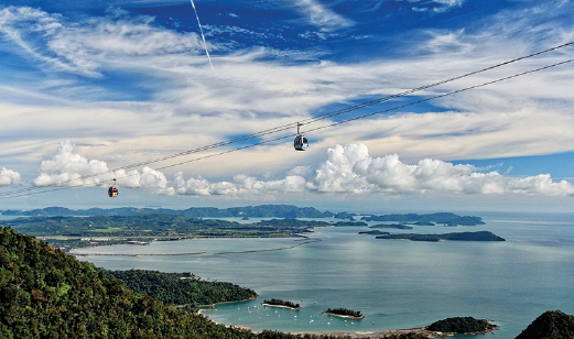 panoramic view of gunung mat cincang Beautiful scenery of gunung mat cincang all worth it great view from the top base station panorama langkawi cable car kuah.
