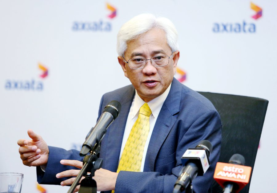 (File pix) Axiata Group's group chief executive officer, Tan Sri Jamaludin Ibrahim.