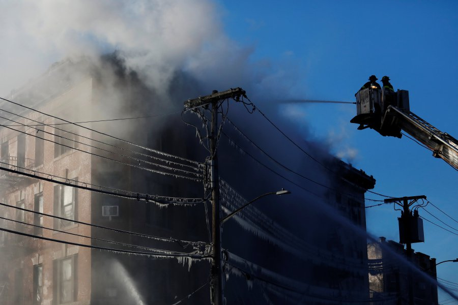 12 hurt, 1 seriously, in Bronx fire