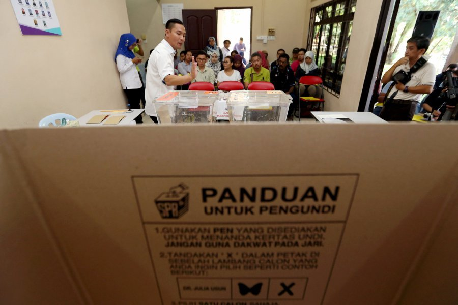 Election Commission (EC) feels there is a need for greater participation in the election, not only as voters and candidates but also as polling agents. Pix by Mohd Azren Jamaludin