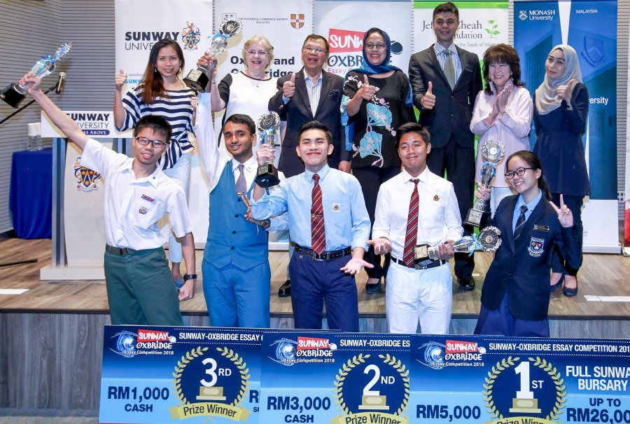 sunway oxbridge essay competition winner