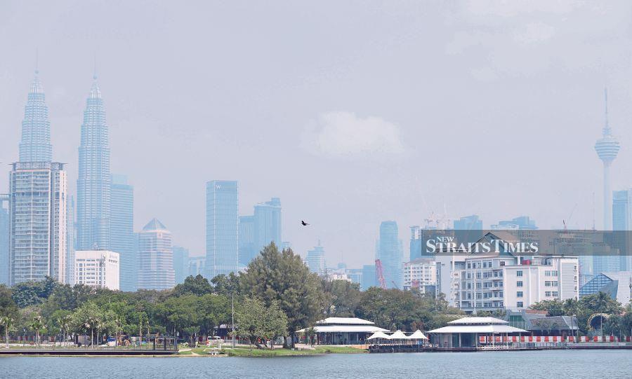 The Kuala Lumpur skyline was slightly hazy yesterday. PIC BY ROSELA ISMAIL
