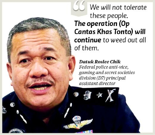 Cops Step Up Op Against Tontos New Straits Times Malaysia