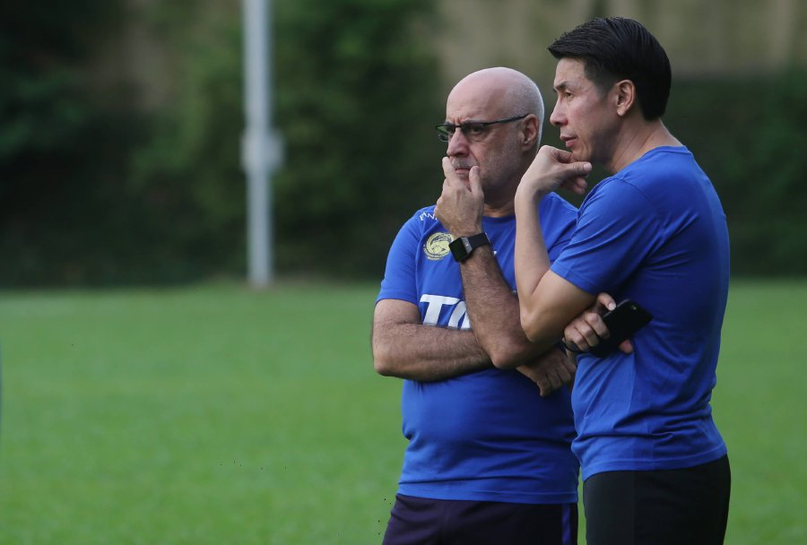 National coach Nelo Vingada is worried he does not have much time to get his players ready for the Asian Cup qualifying double-header against North Korea in Buriram, Thailand on Nov 10 and 13. (Pic by SYARAFIQ ABD SAMAD)