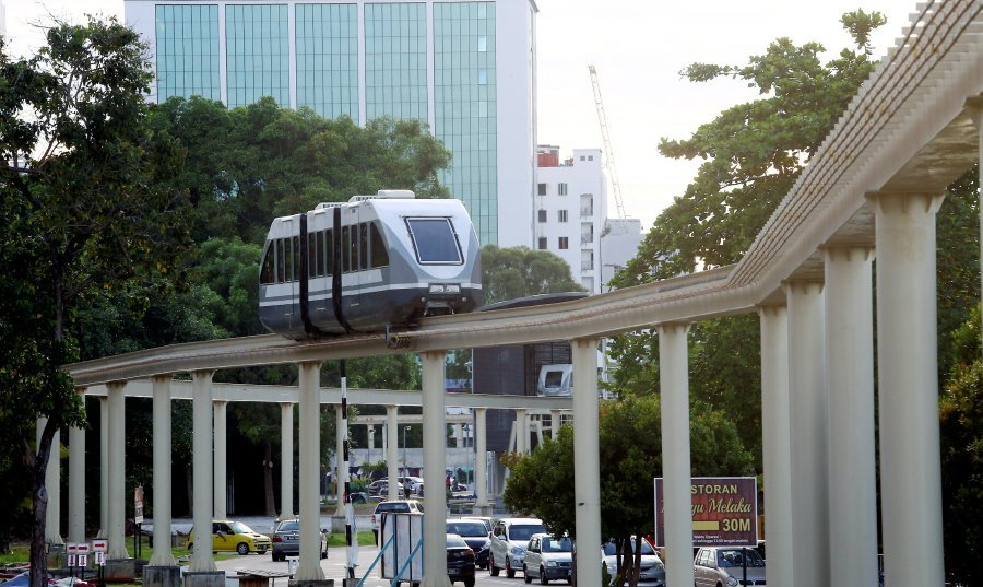 The Melaka Monorail resumed operations on Monday, four years after a technical issue forced its complete suspension. Pix by Muhammad Zuhairi Zuber