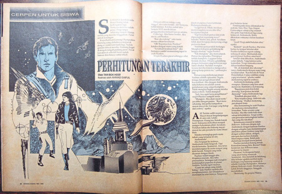 His first short story published in Dewan Siswa in 1990.