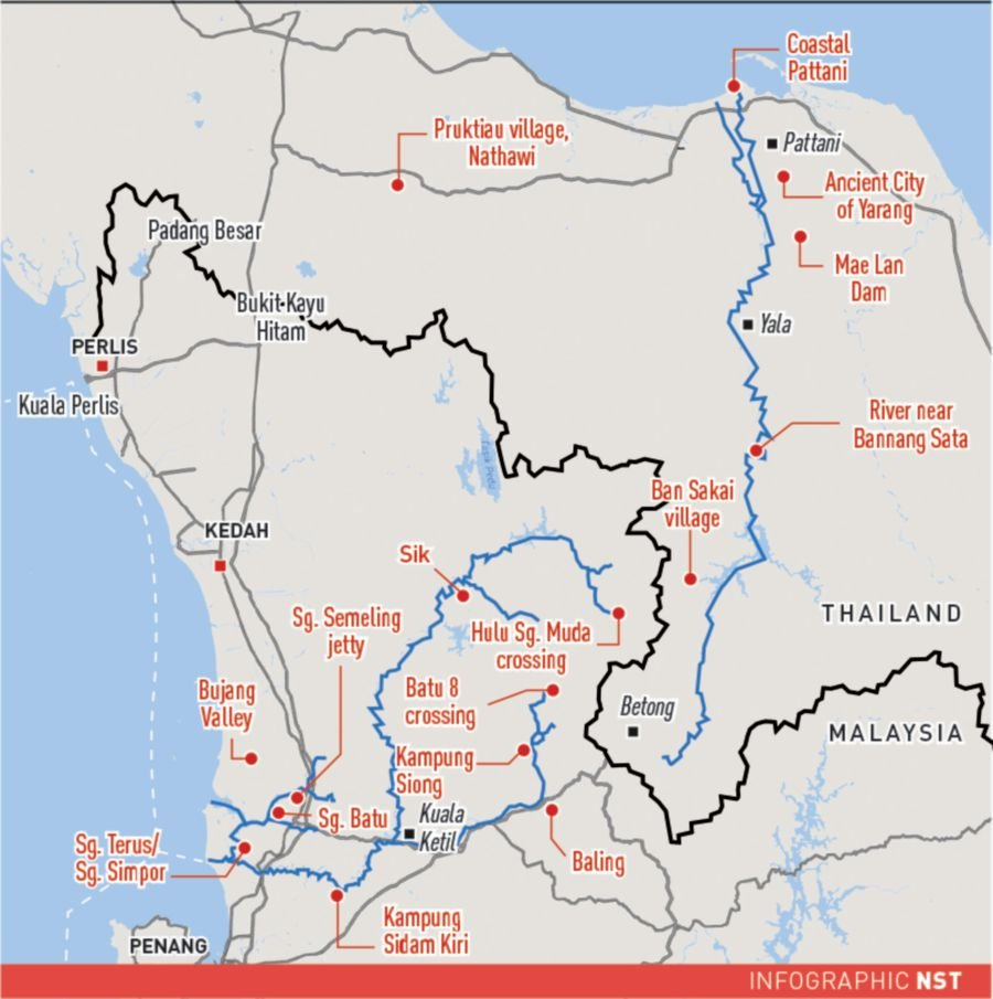 Pattani Thailand Map.The True East West Trade Route New Straits Times Malaysia