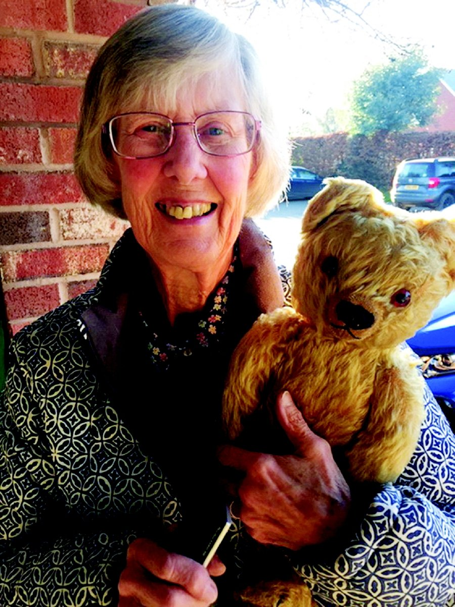 Rosemary Fell with her teddy bear that kept her company when she was evacuated at the age of 2. PIC COURTESY OF ROSEMARY FELL