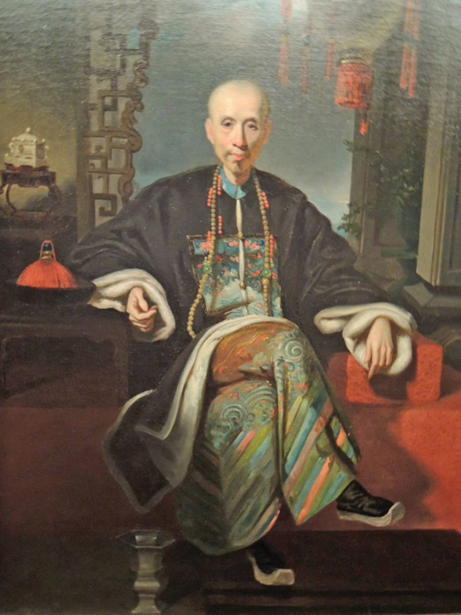 Portrait Of Howqua A Senior Hong Merchant Who Was Very Influential During The Opium War