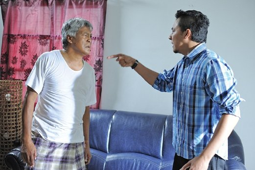 The relationship between Aiman (right) and his father is the key element in the film.