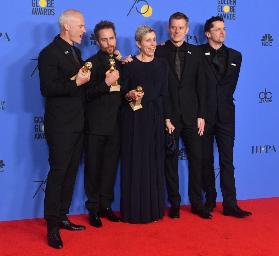 #GoldenGlobes: Victorious 'Big Little Lies' co-stars Alexander Skarsgard, Laura Dern