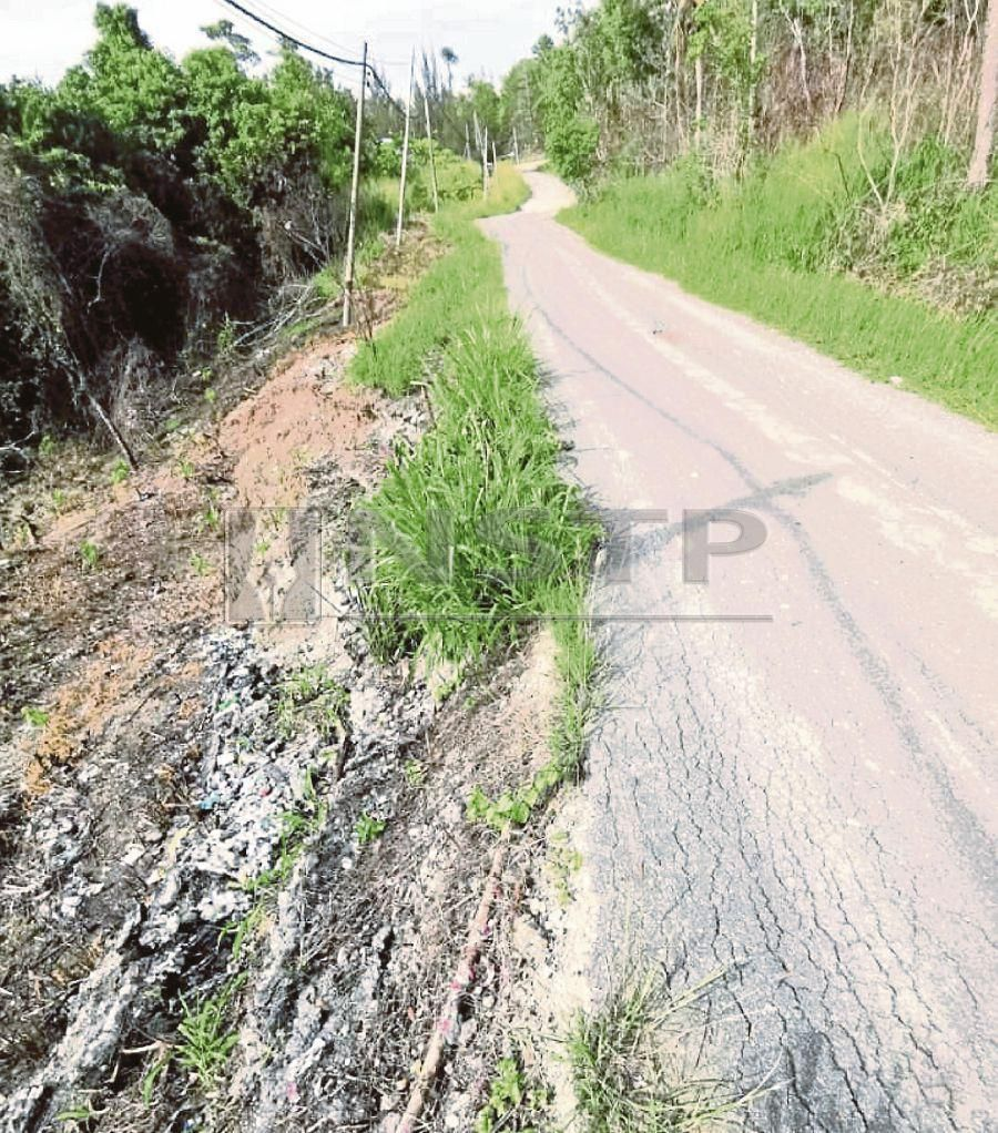 The damaged road leading to Tanjung Simpang Mengayau in Kudat. Pic courtesy of Camuel Tsen