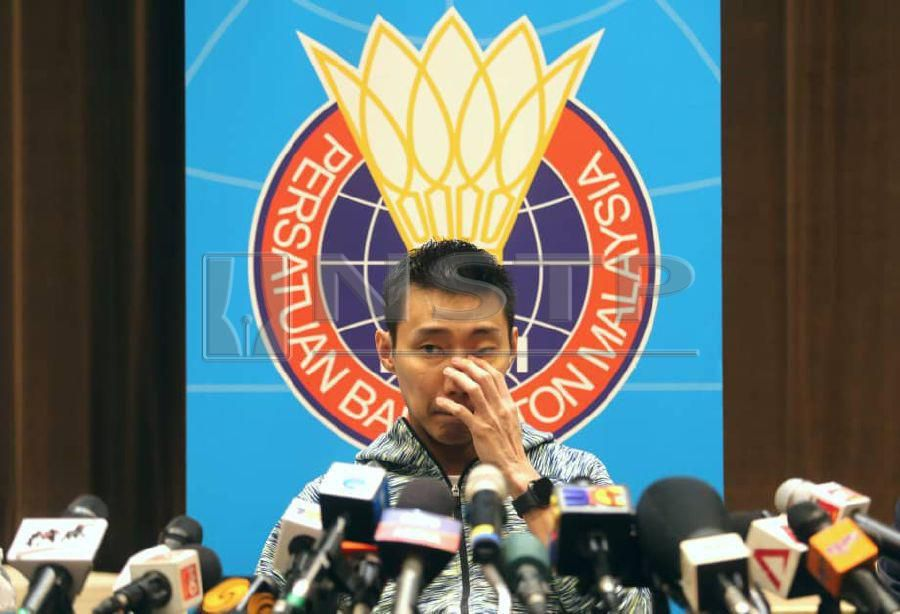 """(File pix) """"I have never cried so much in my life."""" said Lee Chong Wei. Pix by NSTP/EIZAIRI SHAMSUDIN"""