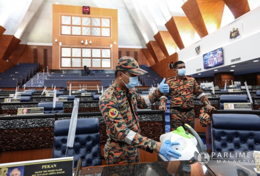 All 222 members of parliament will return to the august house with their face masks  on when the second meeting for the third term of the 14th Parliament commences today.  - Pic Courtesy of Parliment