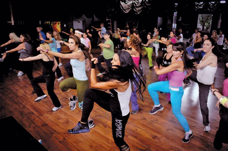 Zumba has been popular since the 1990s. Picture from www.ventfitness.com