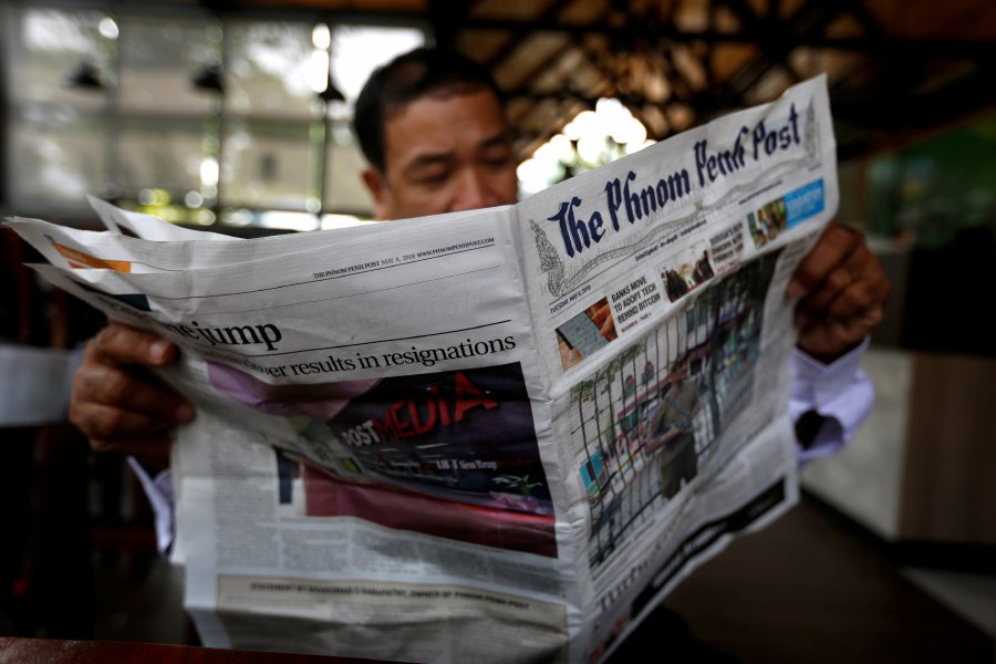 Foreign reporters quit newspaper in Cambodia en masse after