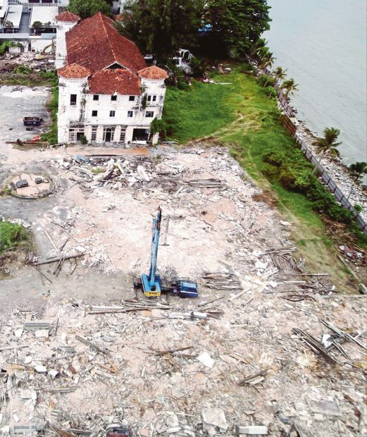 What's left of the Runnymede after its ancillary buildings were recently demolished.