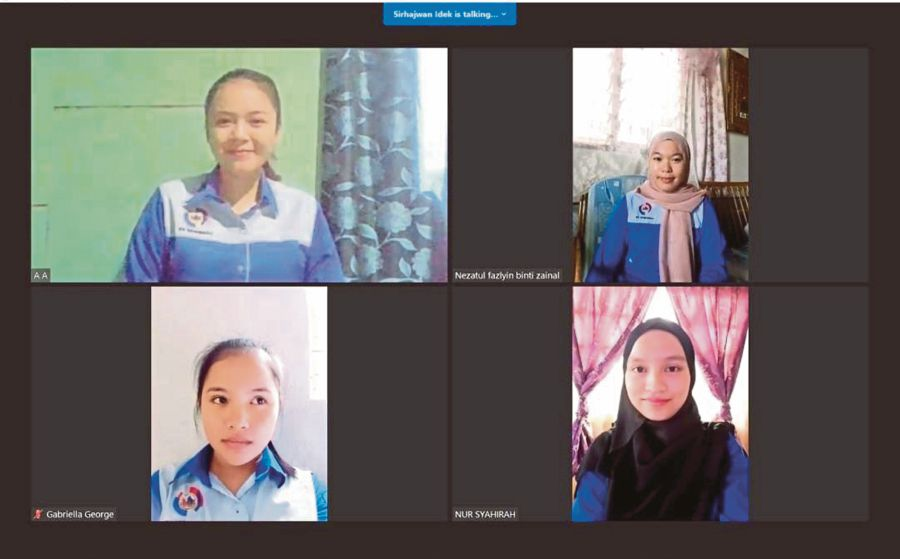 """Keningau Vocational College team """"Nokuro Sumandak"""" pitching their project online for the  Global Media and Information Literacy Youth Hackathon. - Pic courtesy of Keningau Vocational College"""