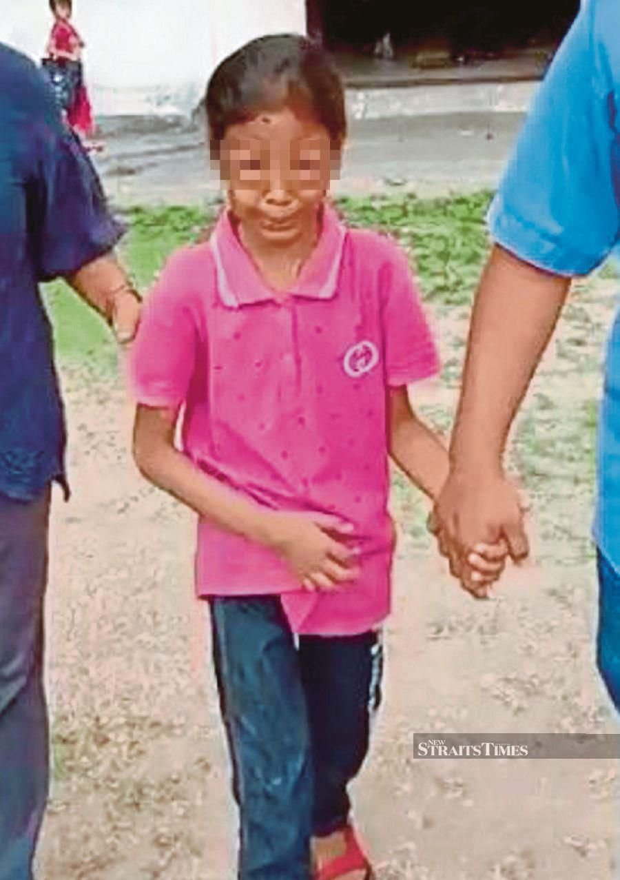 The girl had claimed to be beaten by her stepmother on the head with a helmet.- NSTP/Courtesy of reader