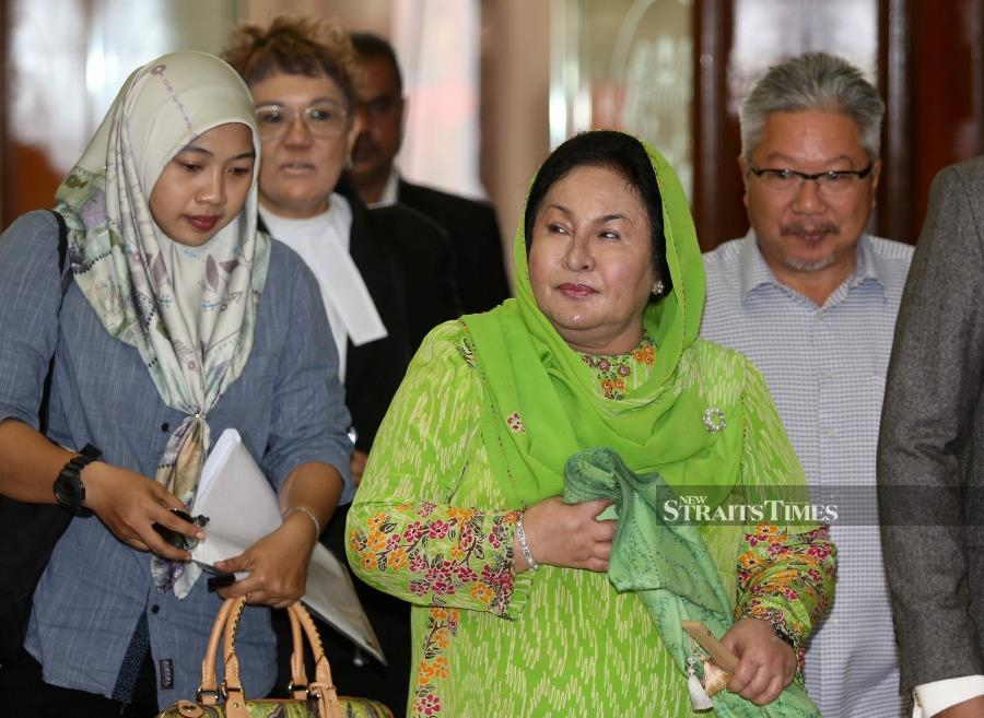Datin Seri Rosmah Mansor, 69, is facing a charge of soliciting RM187.5 million and two counts of receiving a total RM6.5 million bribe from Saidi. -NSTP/MOHAMAD SHAHRIL BADRI SAALI