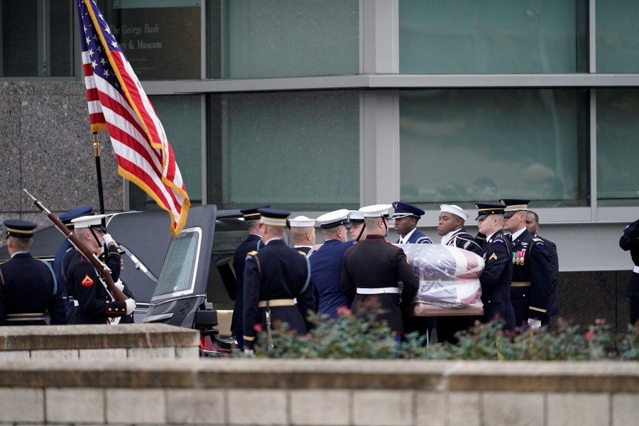 George Hw Bush Laid To Rest In Texas New Straits Times Malaysia