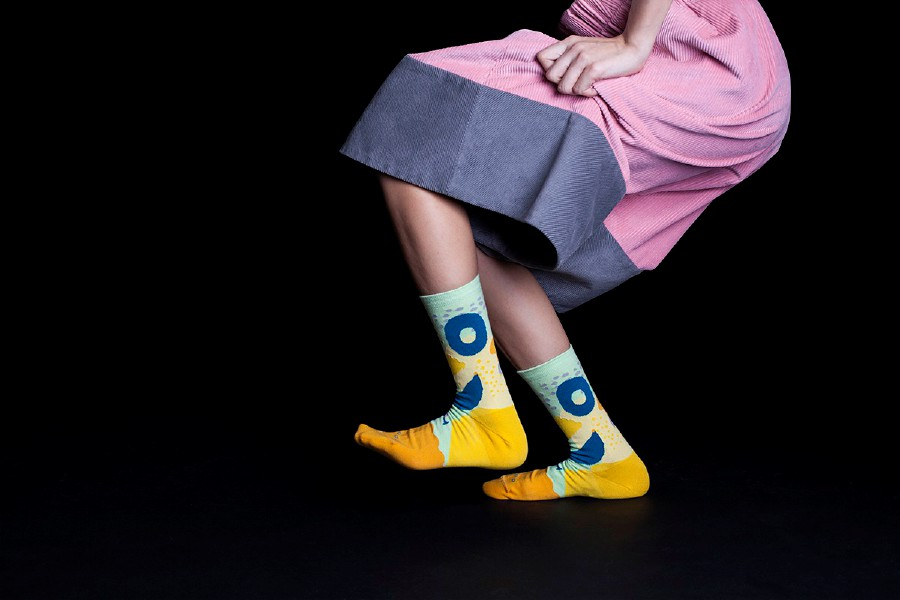Weird and colourful socks that show off your personality.
