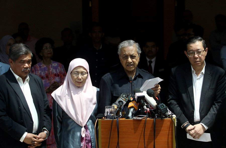 Image result for tun mahathir press conference