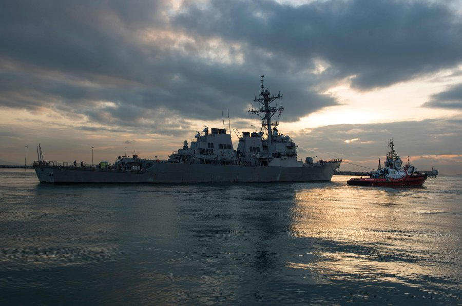 A U.S. Navy destroyer sailed near islands claimed by China in the South China Sea on Tuesday, three U.S. officials told Reuters, even as President Donald Trump's administration seeks Chinese cooperation in dealing with North Korea's missile and nuclear programs. (File pix)