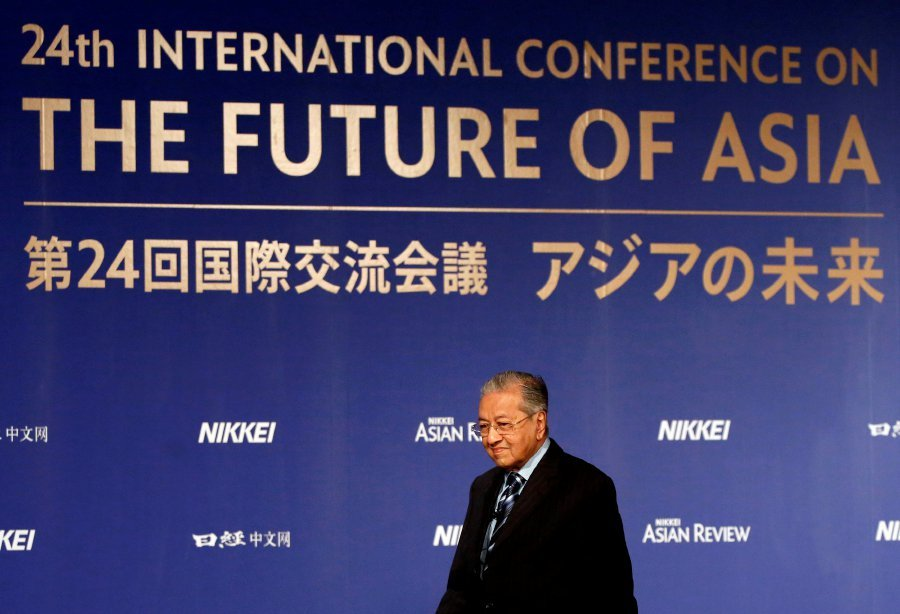Prime Minister Tun Dr Mahathir Mohamad attends the International Conference on the Future of Asia in Tokyo Japan