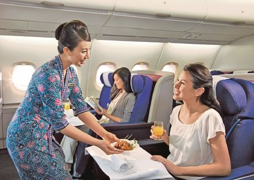 (File pix) Malaysia Airlines' flight attendants have received accolades for their excellent services.