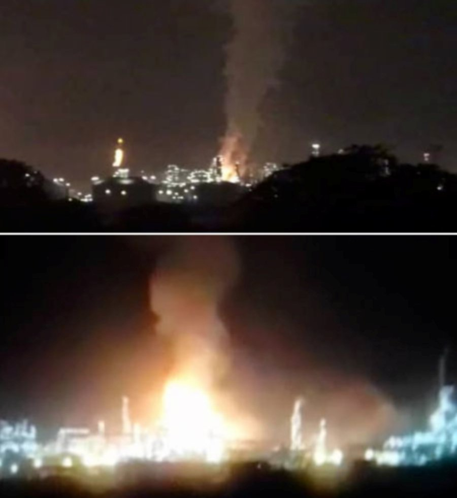 An explosion took place at the Rapid Complex in Pengerang, early this morning. NSTP/SOCIAL MEDIA