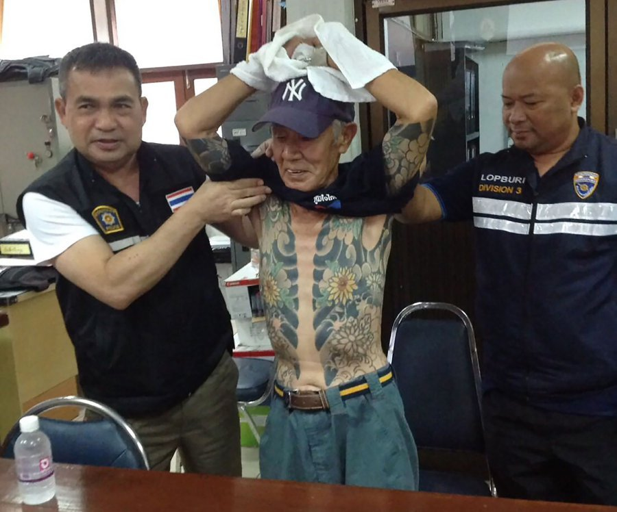 Japanese crime boss held in Thailand after 'yakuza' tatts go