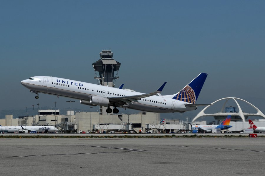Us bound flight diverted to ireland after threat found onboard file photo a united airlines boeing 737 900er plane takes off from los angeles international airport lax in los angeles california us march 28 publicscrutiny Choice Image