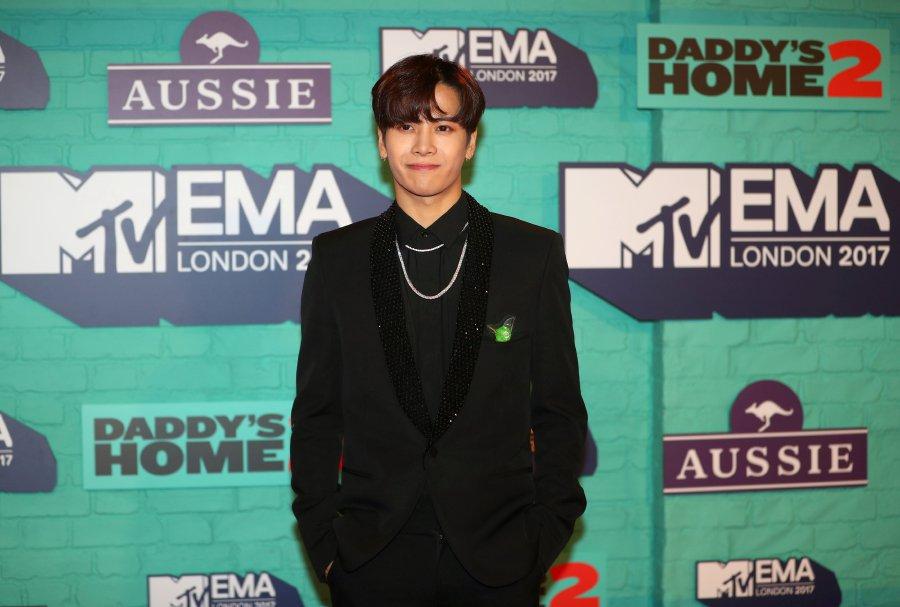 Jackson Wang arrives at the 2017 MTV Europe Music Awards at Wembley Arena in London, Britain, November 12, 2017. REUTERS