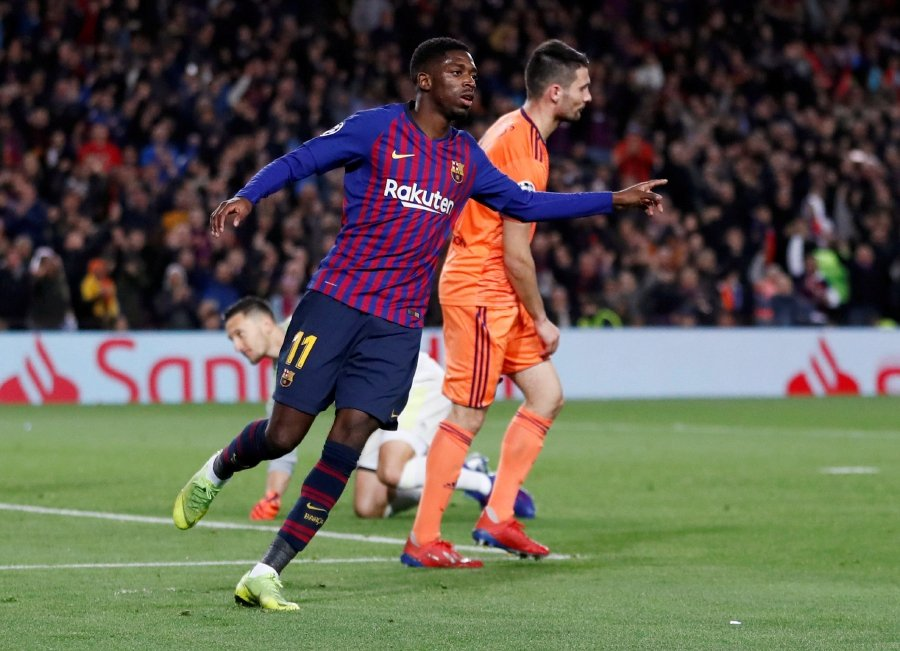 Barcelona's Ousmane Dembele is expected feature against Manchester United in the first-leg quarterfinal of the Champions League match. - Reuters