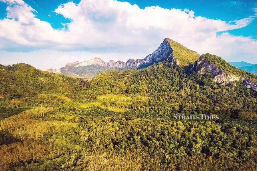 Gunung Pulai in Kedah is one of the country's oldest mountain ranges. PIC BY SYED HAFEEZ