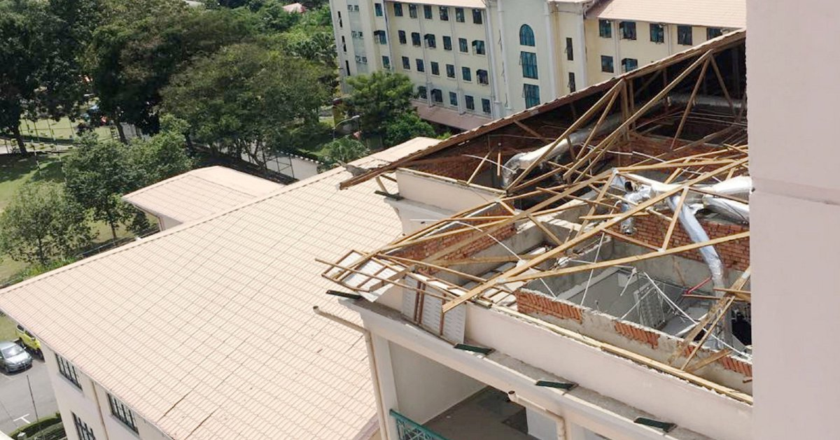 Kl Lashed By Strong Winds Roofs Blown Off Trees Felled