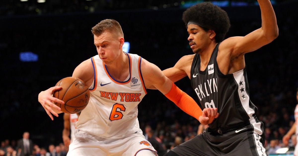 NBA: Knicks down Nets despite early exit for Porzingis