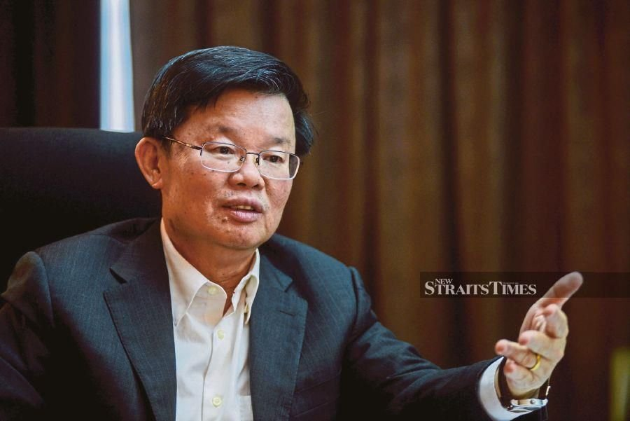 Penang Chief Minister Chow Kon Yeow