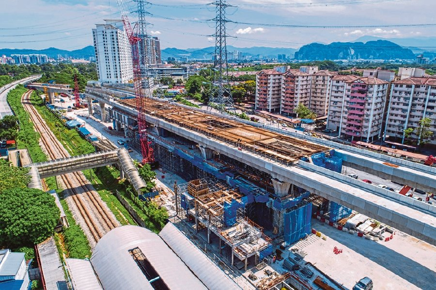 Ongoing platform rebar works at the Kampung Batu MRT Station site as at May 31 this year. - Pic source: www.mymrt.com.my